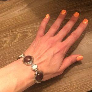 Lia Sophia Merlot & Pearl Bracelet